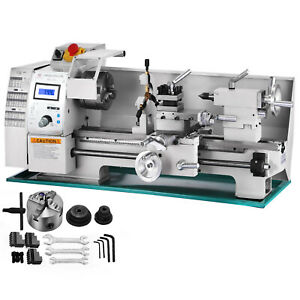 8 X 16variable speed Mini Metal Lathe Bench Top Digital Rpm 750w