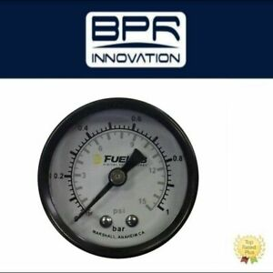 Fuelab Analog Fuel Pressure Gauge 0 120 Psi 0 8 Bar 1 5 In 71511