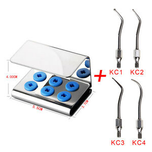 4pcs Dental Scaler Tip Cavity Preparation Fit Kavo Sonicflex With Tips Holder