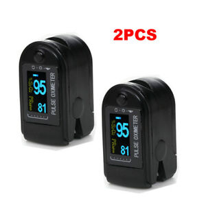 2pcs Oled Oximeter Pulse Finger Tip Monitor Blood Oxygen Spo2 50d Free Case
