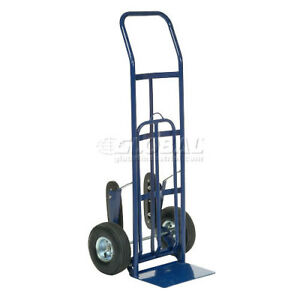 Industrial Strength Steel Hand Truck With Curved Handle amp Stair Climbers