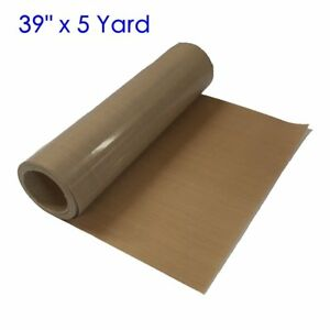 39 X 5 Yard Teflon Fabric Sheet Roll 5mil For Sublimation Heat Press Printing
