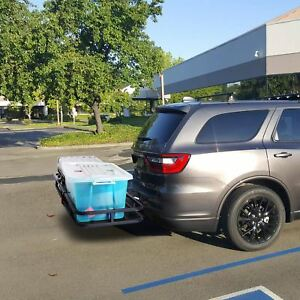 New Steel Cargo Carrier Luggage Basket 2 Receiver Hitch Hauler 500lbs