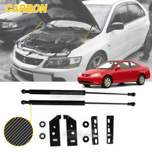 Carbon Bonnet Hood Gas Strut Lift Damper Kit For Honda 2001 2004 Civic