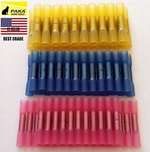 600pcs Assorted 22 10 Heat Shrink Butt Electrical Wire Crimp Terminal Connectors