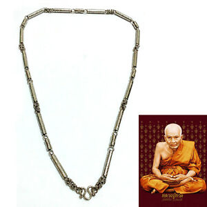 Thai Amulet Necklace Stainless Steel Solid Pattern Lp Tuad For Buddha Pendant 02