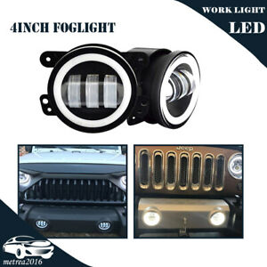 Pair 4 Inch Driving Led Fog Lights Fits Charger Journey Cherokee Grand Cherokee