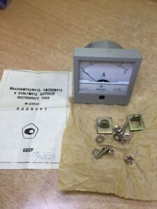 Russian Panel Meter Dc 5a M42101 Nos Lot Of 1