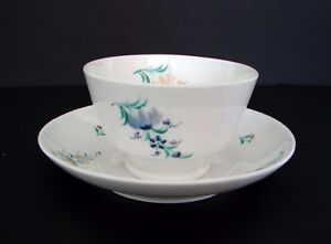 Antique Oriental Hand Painted Porcelain Cup Saucer Set Marked
