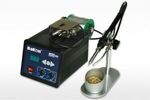 120w High Frequency Lead Free Soldering Iron Station With Wire Self feeder Bk350
