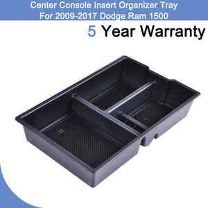 Fit Dodge Ram 1500 2009 2017 Black Abs Center Console Insert Organizer Tray Or