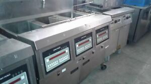 Henny Penny Computron 1000 3 Bank 65lb Fryer With Filtration System Nat Gas