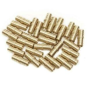 Pex 1 2 Barbed Straight Coupling Crimp Fitting 100 Pcs Brass 0 50