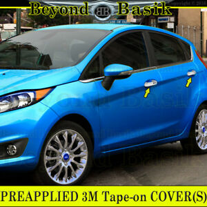 2011 2019 Ford Fiesta Chrome Door Handle Covers Trims With Smart Key Hole