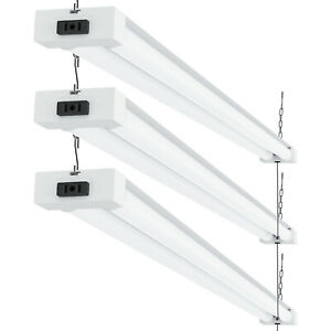 Sunco 3 Pack Frosted Led Utility Shop Light 40w 260w 6000k Daylight 4100 Lm