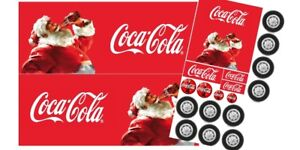 Coca cola Christmas truck edible cake topper labels (for a truck cake)