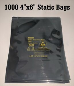 1000 4 x 6 Esd Anti static Discharge Shielding Bags Open top Lead free 10x100