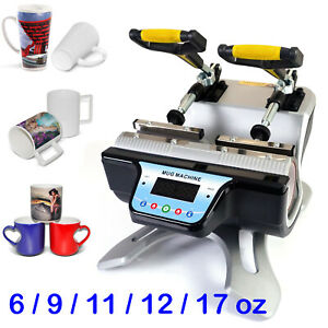 Mini Automatic Mug Heat Press Machine Double Station Press Machine 2 Mugs Usa
