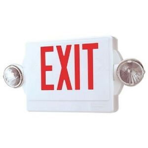 Lithonia Lighting 2 light Thermoplastic Led Emergency Exit Sign fixture Combo