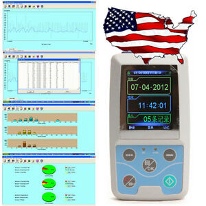Ambulatory Blood Pressure Monitor Holter Pc Software Abpm us Ship De Fda