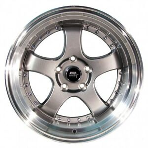 Mst Mt07 17x9 20 4x100 4x114 3 Gunmetal W Machined Lip set Of 4