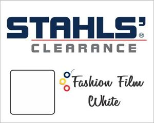 20 X 5 Yards Stahls Fashion film Heat Transfer Vinyl Htv Matte White