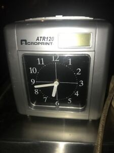 Acroprint Atr120 Time Clock Send Best Offer