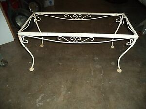 Antique Vintage Wrought Iron Table Base Industrial Repurpose Metal Outdoor Patio