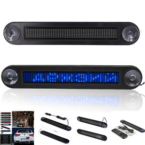 Car Led Programmable Message Sign Scrolling Display Lighting Board Remote Dc 12v
