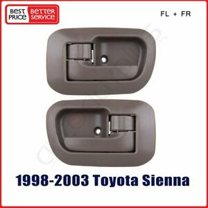 Pair For 98 03 Toyota Sienna Internal Front Left Right Driver Lh Rh Door Handle