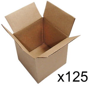 125 4x4x4 Cardboard Packing Mailing Moving Shipping Boxes Corrugated Box Cartons