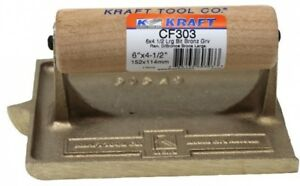 Kraft Tool Large Bit Bronze Groover Edger Steel Wood Handle Concrete Masonry