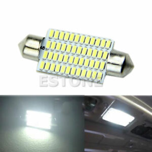 42mm 48led 3014 Smd Car Interior Festoon Dome Lights Bulbs Lamps Bright White