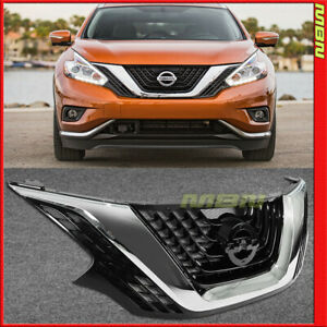 Front Grille Assy For 2015 2018 Nissan Murano Chrome Upper Grill Bumper Trim