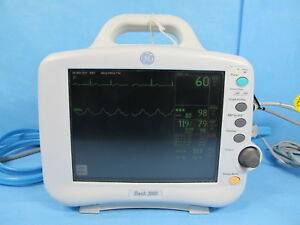 Ge Dash 3000 Patient Monitor With Spo2 Nibp Ecg Temp Warranty And Cable