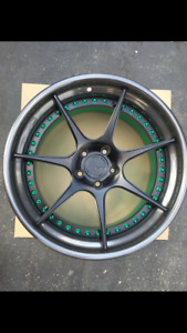 19 Inch Customized 3 Pieces Wheels Red