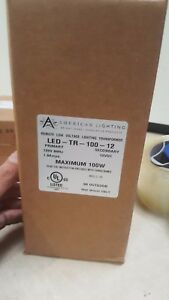 American Lighting Led tr 100 12 Led Magnetic Driver Lighting Transformer 100w