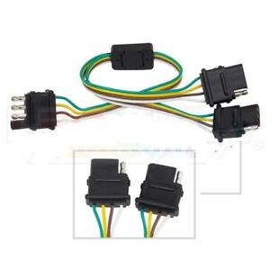 4 Way Trailer Plug Wiring Harness Y Adapter Converter Splitter For Chevy Ford