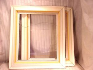 Pair Of Mid Century Frames 28 1 2 X 32 1 2 Holds 20x24 Molding With Liner 4 1 2