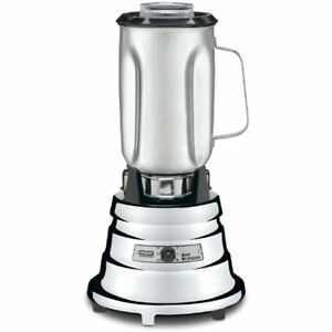 Countertop Blenders Waring Commercial Bb900s 1 2 Hp Chrome Bar 32 ounce Steel