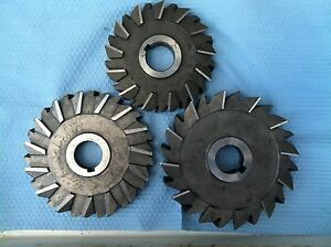 Lot Oof 3 Milling Cutters 1 1 4 Hole Size On All