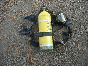Drager Draeger 2216 Psi Scba Air Pak W Panorama Mask All Aluminum Tank