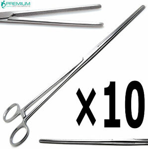 10 Pcs Surgical Hemostat Pean Rochester Straight Forceps 12 Veterinary Set