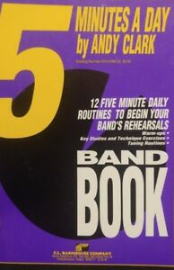 FIVE-5 MINUTES A DAY BOOK-BARITONE T.C./BASS CLARINET--MUSIC BOOK-BRAND NEW-SALE