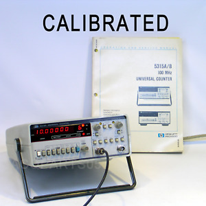 Hewlett Packard 5315a 100 Mhz Universal Counter Calibrated