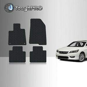 Toughpro Black Rubber Custom Fit For Honda Accord Floor Mats Set 2018 2019