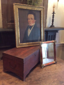Early Vintage Clean Mahogany Document Box Ogee Feet Nice Side Handles