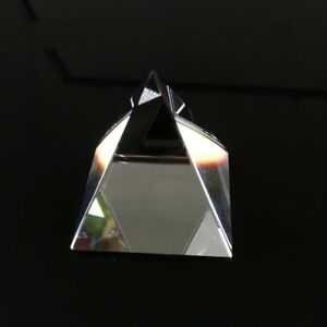 100mm Optical Glass Triangular Crystal Prism Pyramid For Science Survey