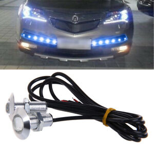 1 Pair 23mm Eagle Eye Led Daytime Running Drl Lights Car Auto Lamp Blue Dc 12v