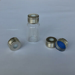 100pcs 10ml Vials With Thread Top Clear Glass Bottles Lab Package Hplc Gc Sample